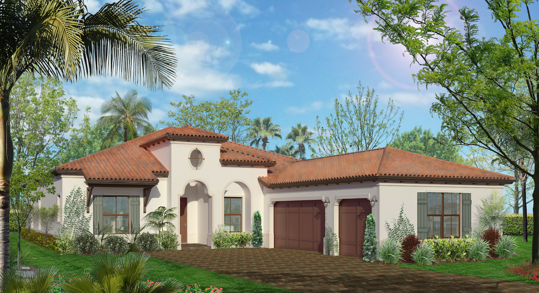New homes luxury properties in parkland florida cc homes for New homes with 3 car garage